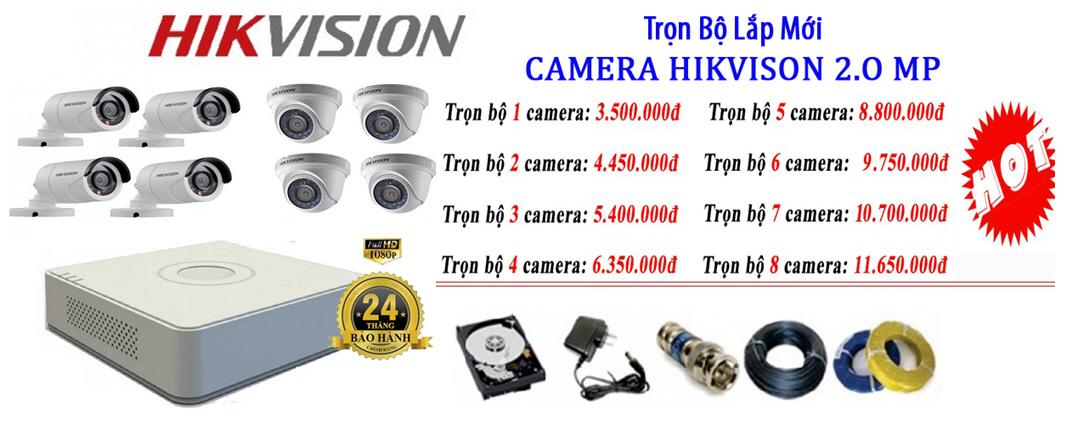 Bộ Camera từ 5 - 8 mắt