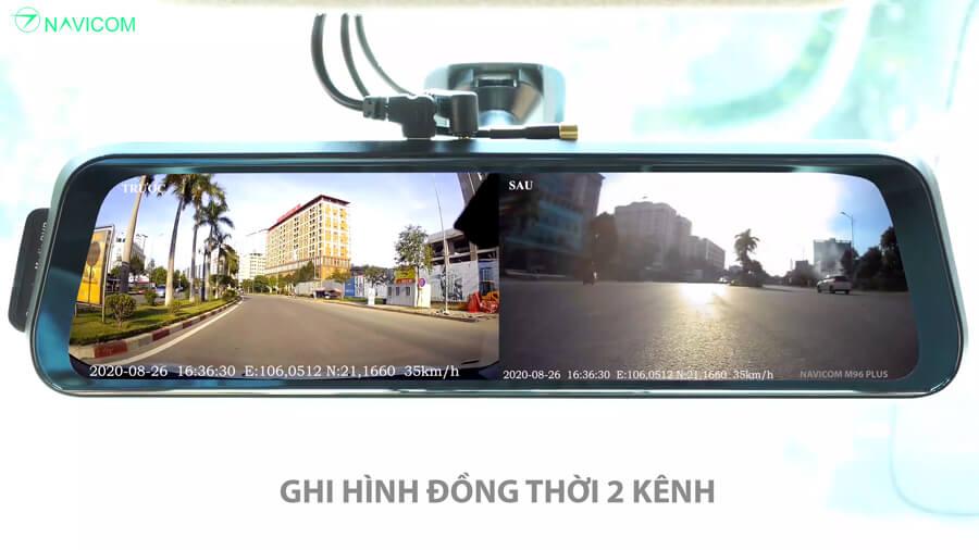Camera hành trình gương android Navicom M96 Plus