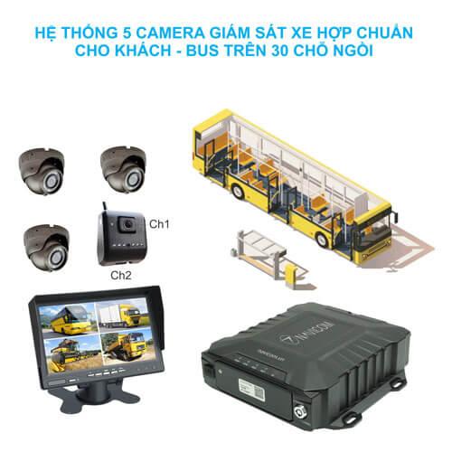 Hệ thống 5 camera giám sát hợp chuẩn NGHỊ ĐỊNH 10 cho xe khách - bus trên 30 chỗ ngồi Navicom HT05-ND10