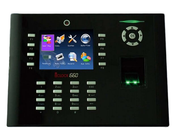 Máy chấm công vân tay và thẻ cảm ứng RONALD JACK ICLOCK 660