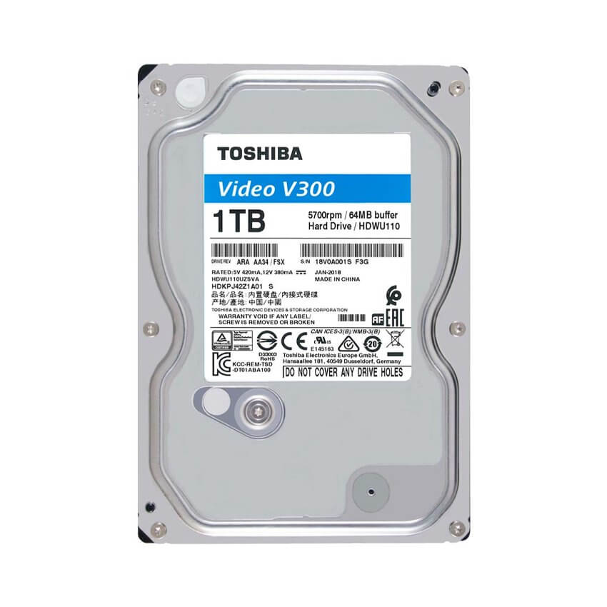 Ổ cứng Camera HDD Toshiba AV V300 1Tb