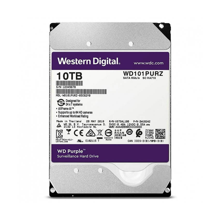 Ổ cứng Camera HDD Western Purple 10Tb
