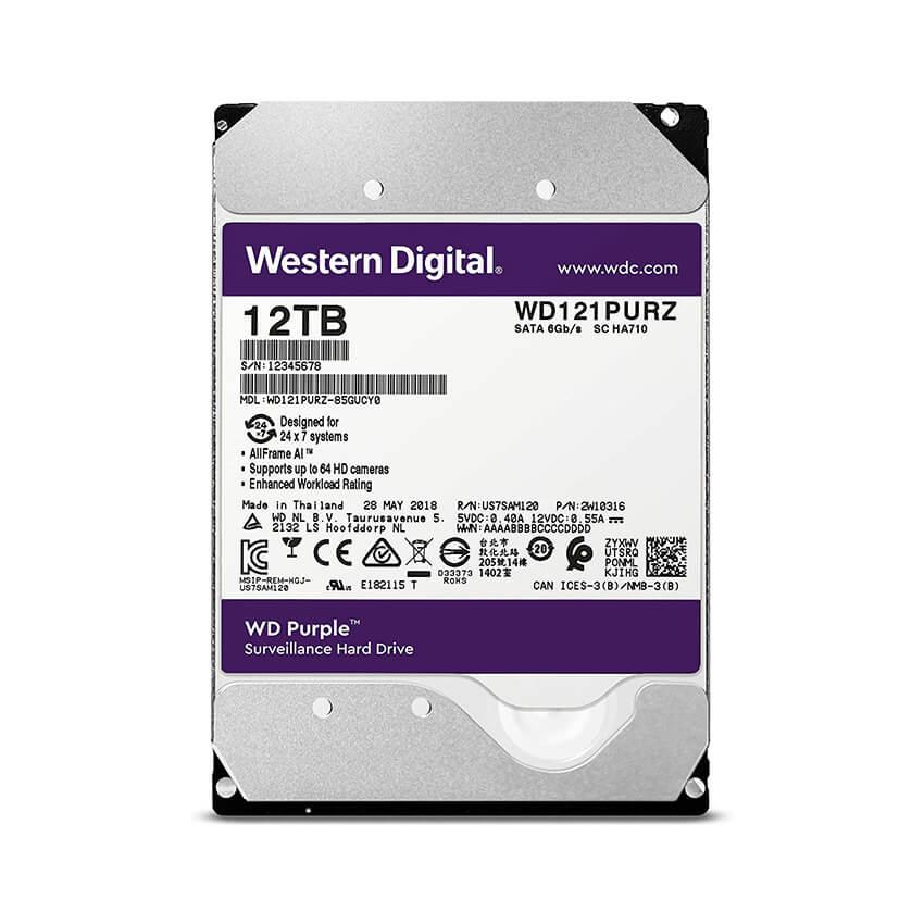 Ổ cứng Camera HDD Western Purple 12Tb