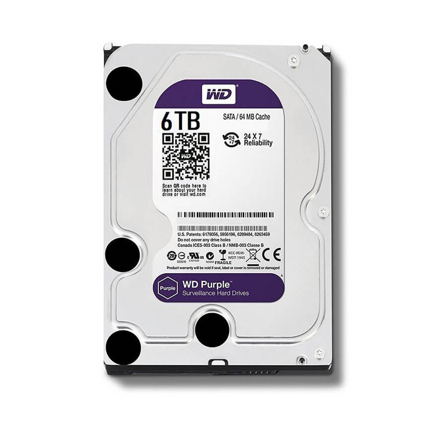 Ổ cứng Camera HDD Western Purple 6Tb