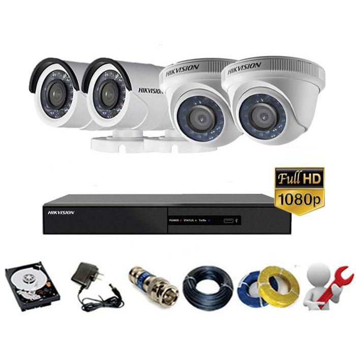 Trọn gói bộ 04 mắt Camera Hikvision 2MP-1080P