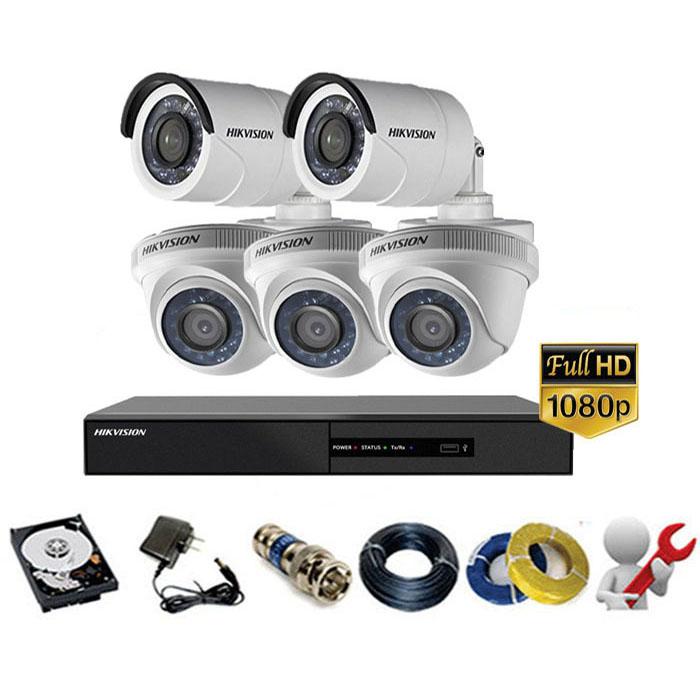 Trọn gói bộ 05 mắt Camera Hikvision 2MP-1080P