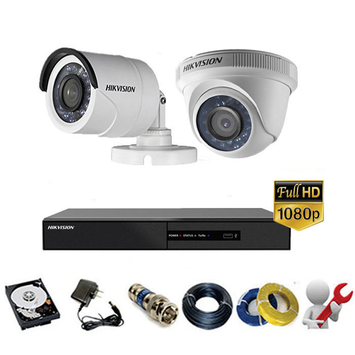 Trọn gói bộ 02 mắt Camera Hikvision 2MP-1080P