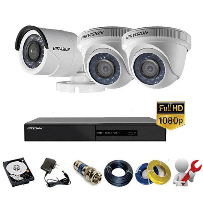 Trọn gói bộ 03 mắt Camera Hikvision 2MP-1080P