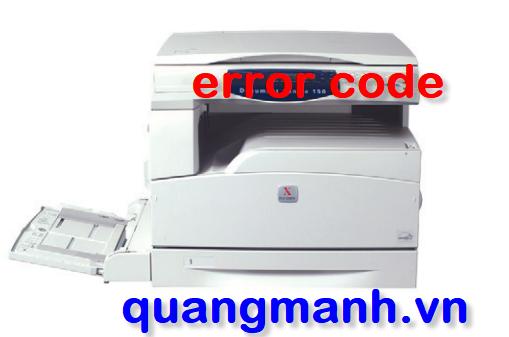 Bảng mã lỗi máy photo Xerox và cách khắc phục