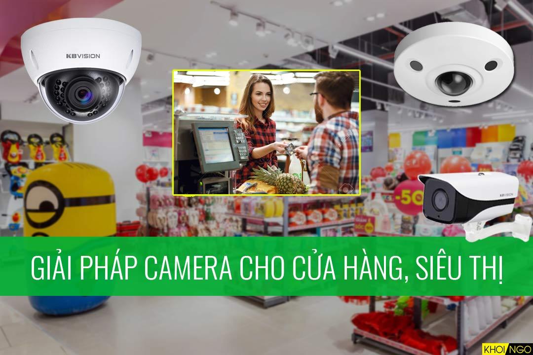 Giải pháp lắp đặt camera cho cửa hàng và siêu thị