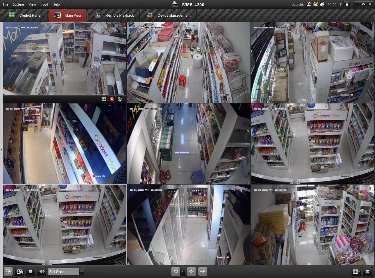 Giải pháp lắp đặt Camera cho Siêu thị mini, cửa hàng tạp hóa